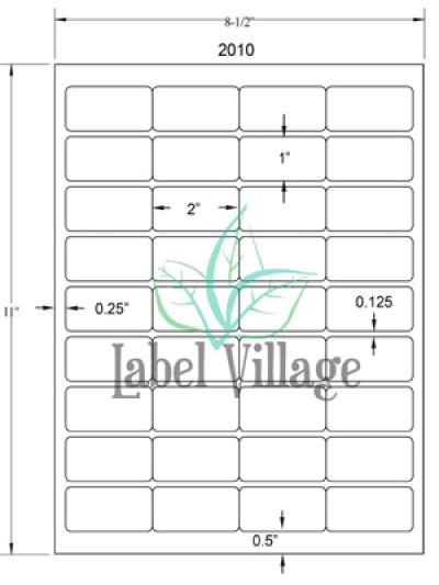 "2.0"" x 1.0"" Rectangle Brown Kraft Sheet Labels"