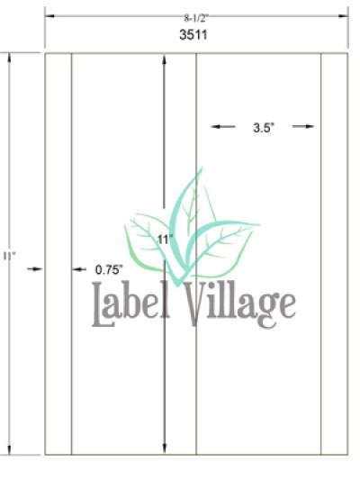 "3.5"" x 11"" Rectangle Brown Kraft Sheet Labels"