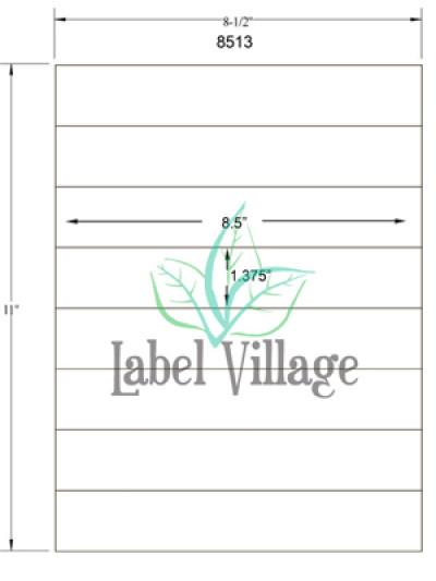 "8.5"" x 1.375"" Rectangle Brown Kraft Sheet Labels"